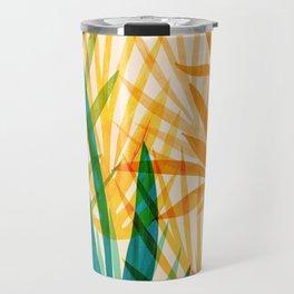 Golden Tropics / Abstract Tropical Illustration Travel Mug