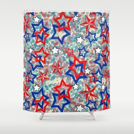 Stars and Splats Shower Curtain