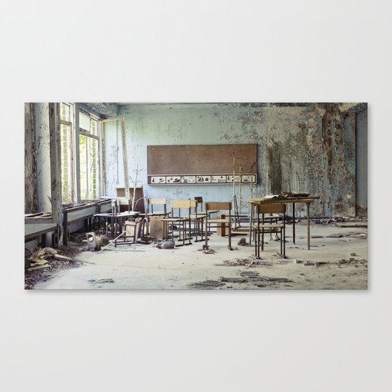 Chernobyl - школа Canvas Print