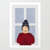 home alone Art Prints featuring Home Alone by Robert Scheribel