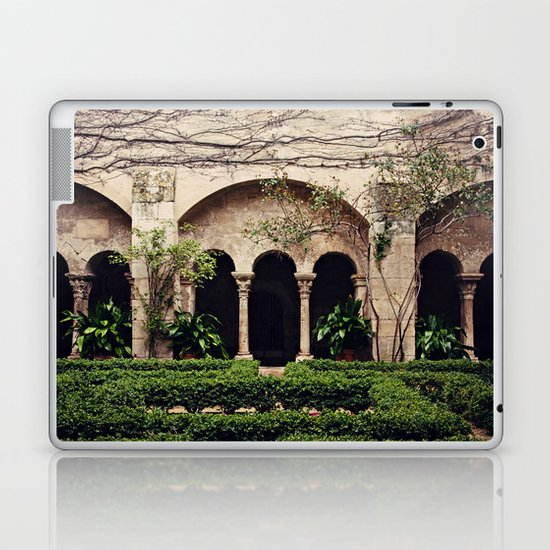 Van Gogh's Courtyard in St Remy Laptop & iPad Skin