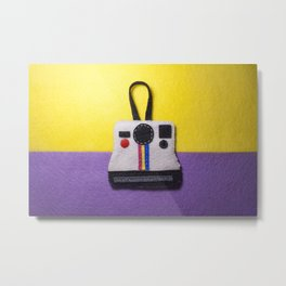 Felt Polaroid Metal Print