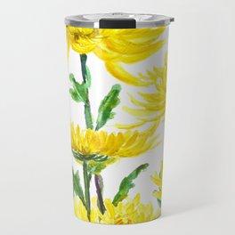Yellow Chrysanthemums Travel Mug