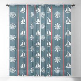 Nautical design 3 Sheer Curtain