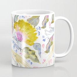 Lovelies - yellow & pink Flower pattern Coffee Mug