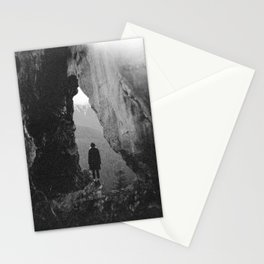 Through the Looking Glass - Holga Black and White Photograph in the Pacific Northwest Stationery Cards