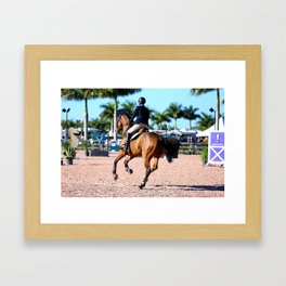 jumping in the palms Framed Art Print