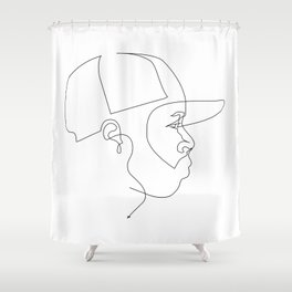 One Line For Dilla Shower Curtain