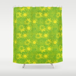 happy suns Shower Curtain