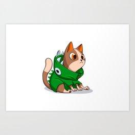 Cat dinosaur costume Art Print