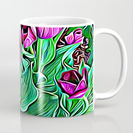Nurturing Flowers in Pink Coffee Mug