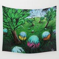 eggs Wall Tapestries featuring Eggs by chris panila