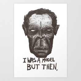 a body is a hard thing to maintain  Art Print