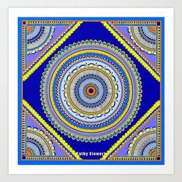 Blue Bom Art Print