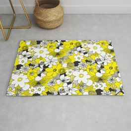 Floral Medley - Yellow Rug
