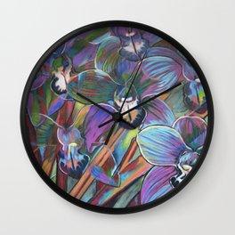 Cymbidium Carnival 2 Wall Clock