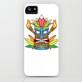 Awesome The Big Kahuna Tiki Gift Print Hawaiian Island Product iPhone Case