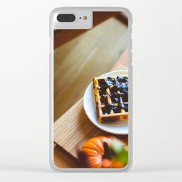 Blueberrie Toast Clear iPhone Case