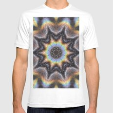Tandava White MEDIUM Mens Fitted Tee