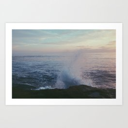 splashed. Art Print
