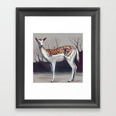 Deer in the forest Framed Art Print