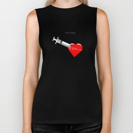 Shot to the heart - Pulp fiction Overdose Needle Scene needle for injection  Biker Tank