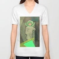 cyclops V-neck T-shirts featuring Cyclops by Naomi Vona