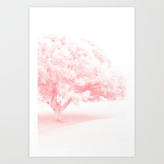 Frosted Pretty Pink Tree Art Print
