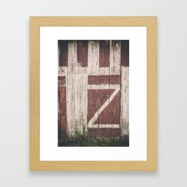 A Barn with a Z on it Framed Art Print