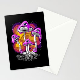 Magic Mushrooms Psychedelic Stationery Cards