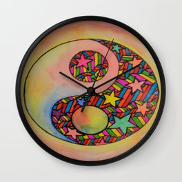 Multi-Color Ying-Yang Wall Clock