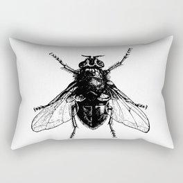 black and white fly Rectangular Pillow