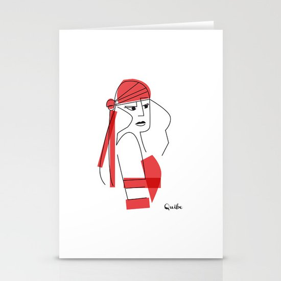 Elektra-assassin Stationery Cards