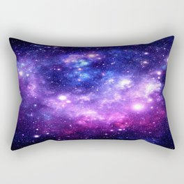 Purple Blue Galaxy Nebula Rectangular Pillow