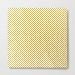 Lemon Polka Dots Metal Print
