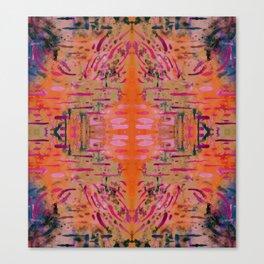 Strengthening Orange Geometric Pattern Watercolor Tapestry Canvas Print