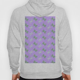 Modern artistic violet green butterfly illustration pattern Hoody