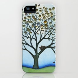 Cairo Whimsical Cat in Tree iPhone Case