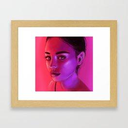 NEON PINK Framed Art Print