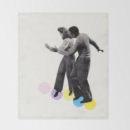 Dance Steps Throw Blanket