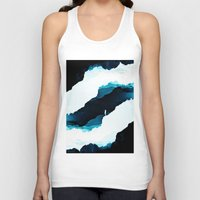 teal Tank Tops featuring Teal Isolation by Stoian Hitrov - Sto