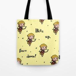 Bits up, face down! Sera Tote Bag