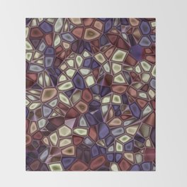 Fractal Gems 01 - Fall Vibrant Throw Blanket