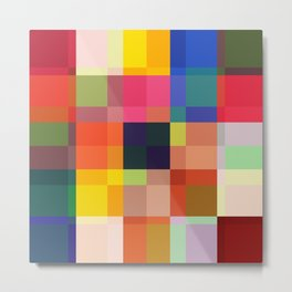 Talos - Colorful Abstract Pixel Patter Metal Print