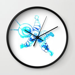 Astronaut Cosmonaut Spaceman Galaxy Space Wall Clock