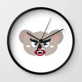Koala vampire head Wall Clock
