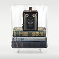 old school Shower Curtains featuring Old School by Maureen Bates Photography
