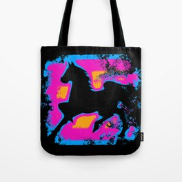 Colorful Western-style Horse Silhouette Tote Bag