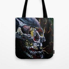 Society Skull Tote Bag