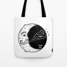 The Moon Blowing Stars Tote Bag